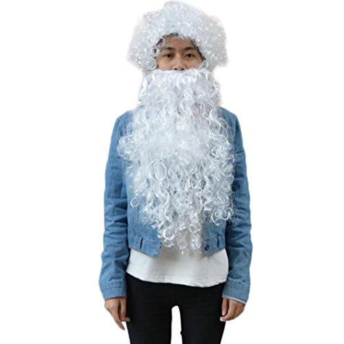 Wigs, Hatop Santa Beard And Wig Set Christmas Santa Claus Costume Cosplay Wig (Deluxe Brown Dreadlock Wig)
