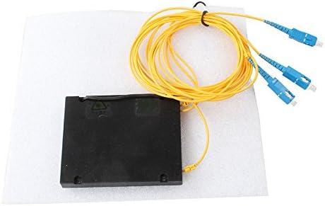 SC//UPC 5PCS//Lot Splice//Pigtailed ABS Module 2.0mm 1x2 PLC Fiber Splitter