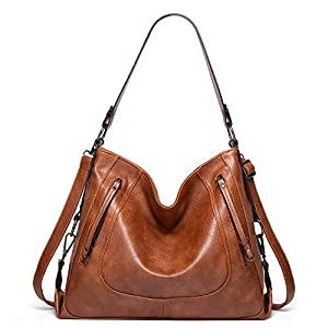 Purses for Women – GZCZ Hobo Handbags Leather Shoulder Bags Large Capacity Tote Crossbody Bags with Adjustable Shoulder…