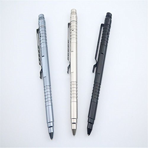 Personal-Defense-Stinger-Aircraft-Aluminum-Metal-Tactical-Pen-with-LED-Flashlight-And-Glass-Breaker