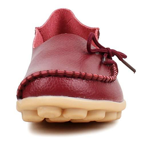 Fangsto Loafer Flats, Basses Femme Bordeaux
