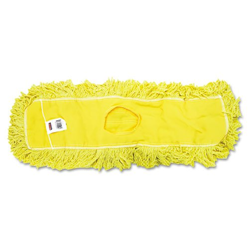 24' Mop (Trapper Commercial Dust Mop, Looped-end Launderable, 5'' x 24'', Yellow, Sold as 1 Each)