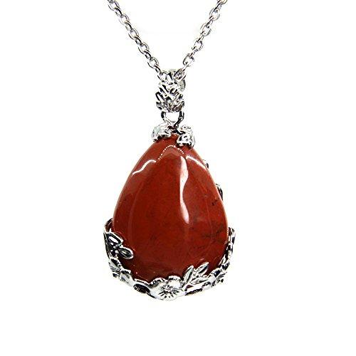 Amandastone Gemstone Hexagonal Pointed Reiki Chakra Pendant Necklace 18