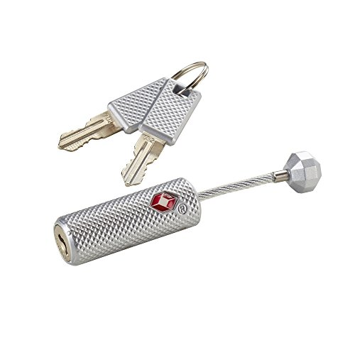 Lewis N Clark Travelsentry Piston Key Lock, Silver