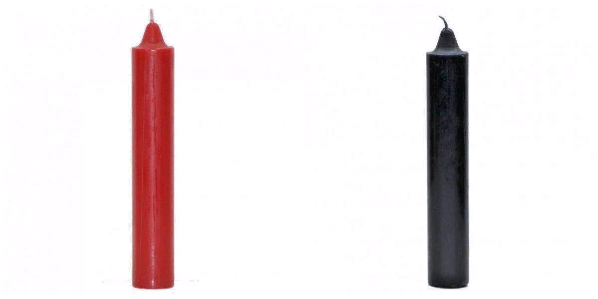 Jumbo Pillar Red Candle 9 Tall