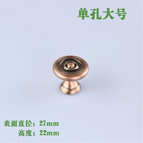 10pcs/set 27X22mm Red Bronze Single hole simple drawer cabinet door handle Pull L Size