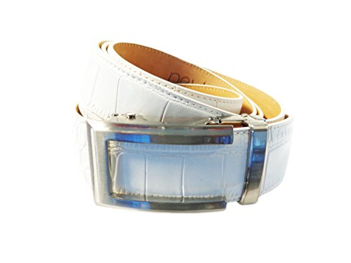 Nexbelt Premium Series: Reptile Belt (Alligator White w/ Artemis Brushed (Reptile Buckle Belt)