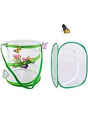 Counius 2 szt. Klatka siedliska motyla składana przenośna rozmnażanie owadów siatka klatka dla zwierząt wyskakujące gady terrarium siedlisko owadów, uprawa roślin szklarnia