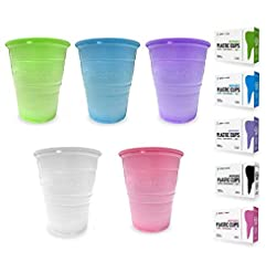 200 Disposable 5 Ounce Plastic Cups for ...