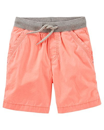 (OshKosh B'Gosh Little Boys' Pull On Neon Poplin Shorts (3-Toddler))