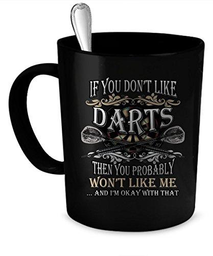 Darts Coffee Mug. Darts gift 11 oz. black
