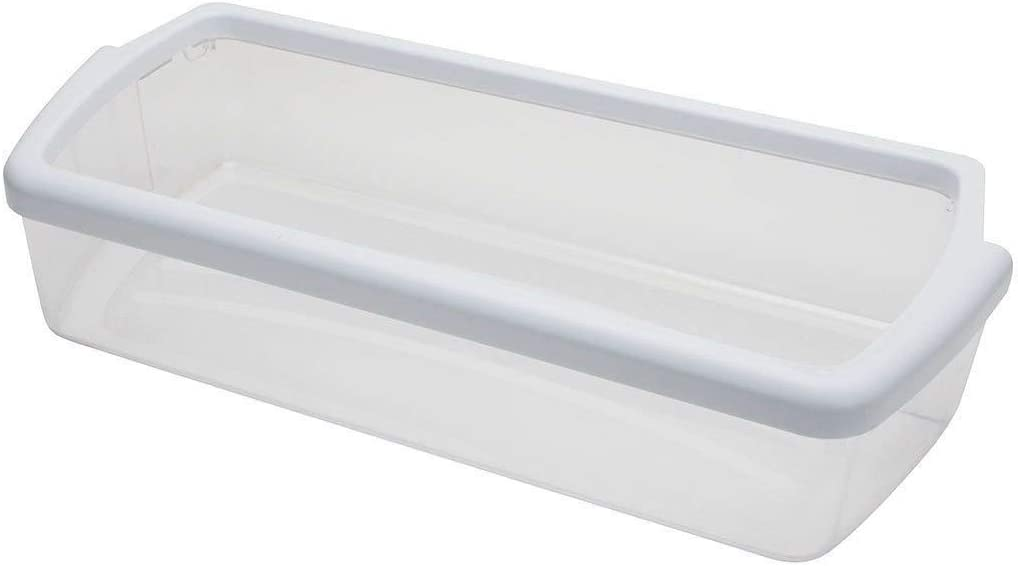 KS W10321304 AP4700047 2304235K 2304235 2179607K 2198449K New Clear Door Shelf Bin with White Band on Top Exact Replacement for Whirlpool Refrigerator