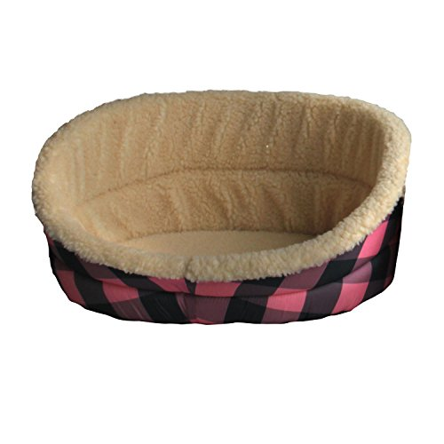 Iconic Pet Standard Plush Foam Bed, Large, Multi-Color