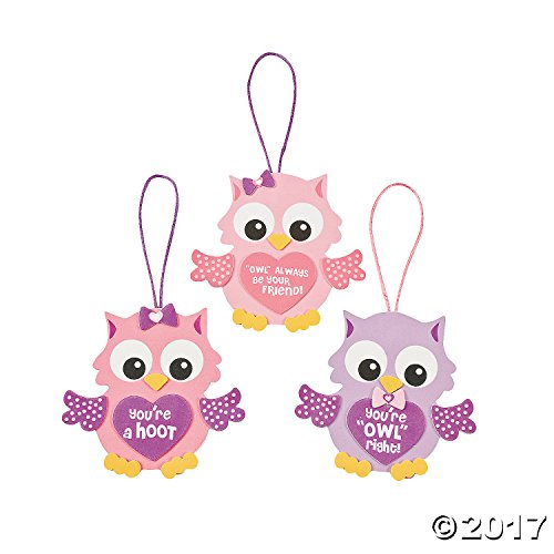 Foam Valentine Owl Ornament Craft Kit (1 Dozen)/arts & Crafts/valentine's Day/activities/toys/school Projects]()