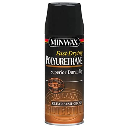Minwax 33055000 Fast-Drying Polyurethane Aerosol, 11 5 ounce, Semi-Gloss