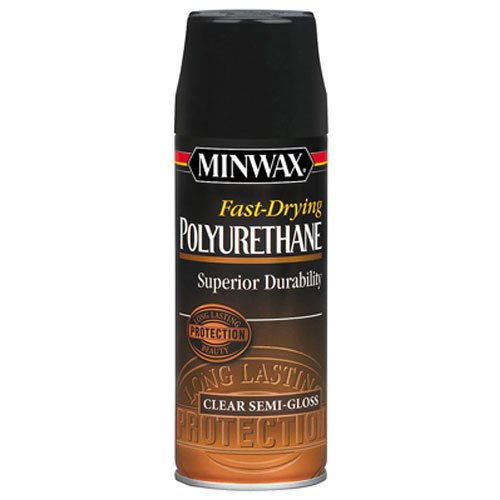 Minwax 33055000 Fast-Drying Polyurethane Aerosol, 11.5 ounce, Semi-Gloss