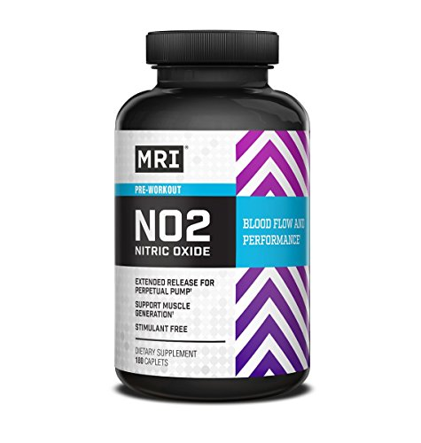 MRI Performance NO2 Nitric Oxide, Pre-Workout Caplets, 180-Count by MRI Performance