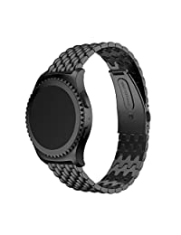 Welcomeuni FASHION 20MM Stainless Steel Bracelet Watch Band Strap For Samsung Galaxy Gear S2 Classic SM-732 (BK)