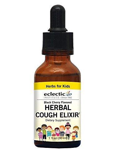 Eclectic Institute Kids Herbal Cough Elixir - Black Cherry Flavor No Alcohol Eclectic Institute 1 oz Liquid