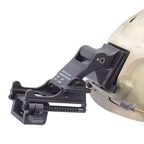 LIVIQILY Tactical Sports Helmets Mounting Bracket for Rhino NVG PVS-14/PVS-7 Night Vision Fast ACH PASGT MICH Helmets M88 (Black) (Helmet Mounting)