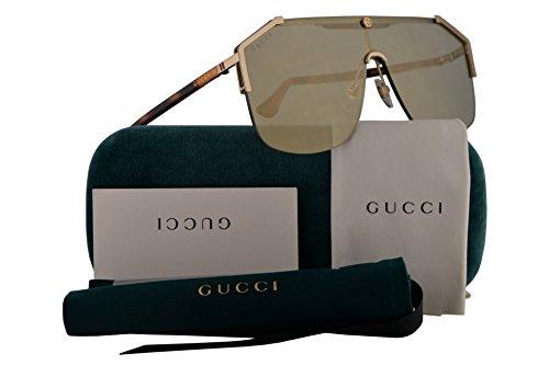 Gucci Sunglasses Bronze (Gucci GG0291S Sunglasses Gold Havana w/Bronze Lens 99mm 005 GG0291/S GG 0291/S GG 0291S)