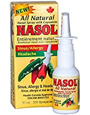 Nasol Natural Nasal Sinus Spray 1oz/30 ml   Relief from sinus pressure, headaches, nasal and sinus congestion; relief begins almost instantly! (1)