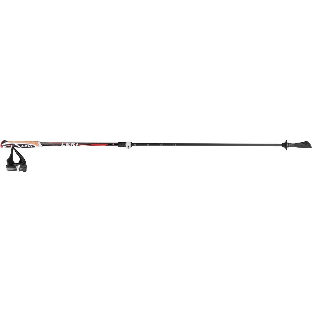 Leki Instructor Lite Nordic Walking Stock, Black/Light Anthracite/Dark Color Gris/White/Neon Red, One Size LEKI6|#LEKI 6362634