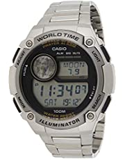Casio Watch for Men CPA-100D-1AVDF Digital Stainless Steel Band Silver