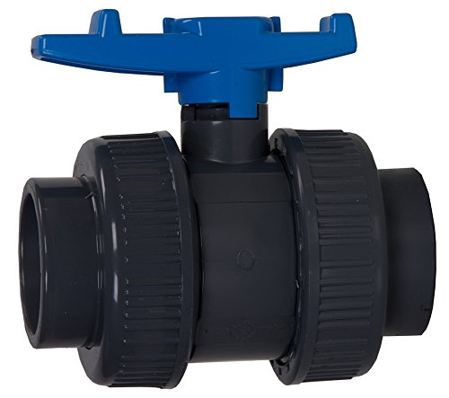 Aquaforte PVC Ball Valve with Double Throw, 25mm, Blue Barrel AD088AMZ