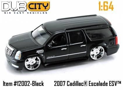 Amazon Com Jada Dub City Black 2007 Cadillac Escalade Esv 1 64