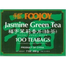 Bargaincell - Natural Healthy Foojoy Chinese Jasmine Green Tea - 2 Boxes of 100 Individually Wrapped Tea Bags (7.0 Oz)