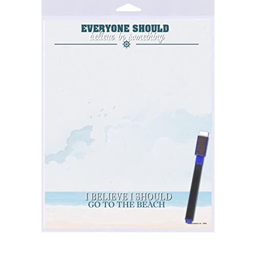 """(SJT40919) Everyone Should Believe in Something - I Believe I Should Go to the Beach 8"""" x 10"""" Plastic Beach Magnetic Memo Board"""