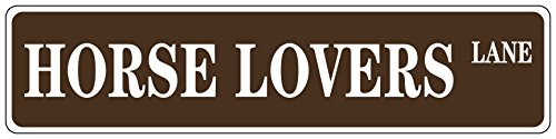 (Aluminum Metal Street Sign Horse Lovers Brown Decorative Address Sign 18