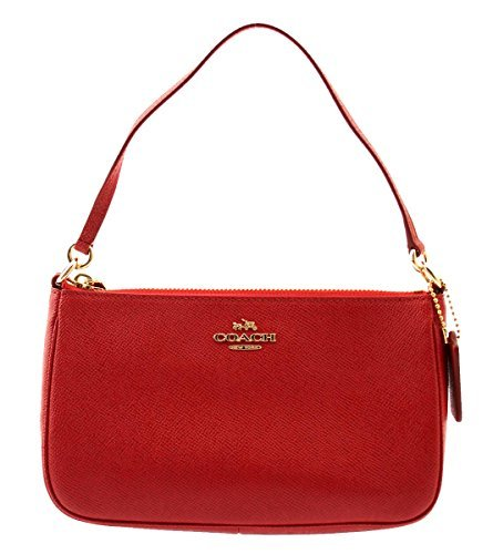 COACH Top Handle Pouch In Red, F25591 Coach Makeup Pouch