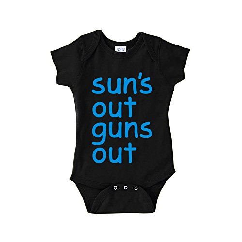 Suns Out Guns Out-Baby Boy Bodysuit (6 Months)