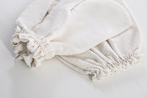 Raw Silk Massage Gloves Unbleached product image