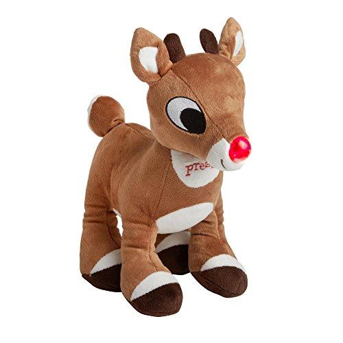 "Rashti & Rashti Rudolph the Red-Nosed Reindeer 11"" Lights and Sound Plush Stuffed (Stuffed Reindeer Toy)"