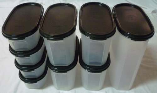 TUPPERWARE Modular Mates OVAL Variety Set (9) - BLACK