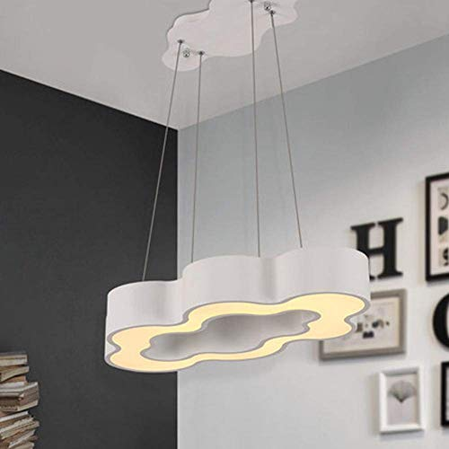 BOSSLV Pendent Lamp Led Hanging Light Creative Personality Warm and Romantic Iron Acrylic Art Clouds Chandelier Minimalist Ceiling Lights Parlor Bed Room Dining Hall Lighting Bar ()