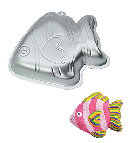 Cute Fish Shape Aluminum Cake Baking Mold Pan - 10 INCH