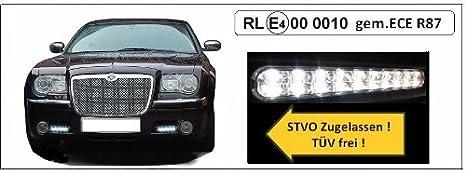 Just Au Led Tagfahrlicht Für Mit Integrierter Licht Steuerung Und Dimm Funktion Mit R 87 Und R7 Zulassung Auto