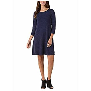 Hilary Radley Ladies' French Terry Pullover Dress, X-Small - Navy Space Dye