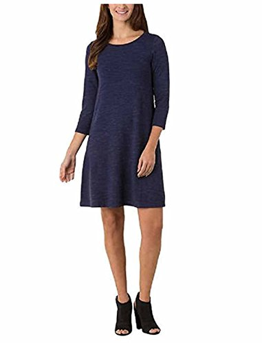 Dress Terry Womens - Hilary Radley Ladies' French Terry Pullover Dress, Medium - Navy Space Dye