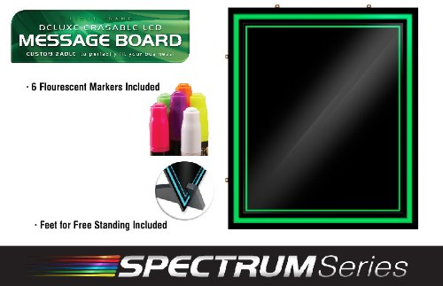 Green Light LED Message Writing Board with 8 Border Color Options, 23''L x 27''W by GreenLight Innovations