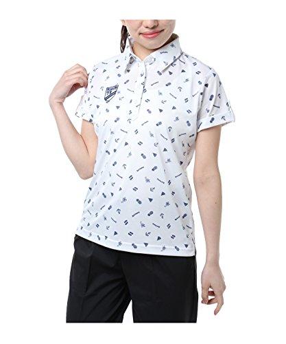 オプスト ゴルフウェア ポロシャツ 半袖 飛び柄半袖シャツ OP220301H03 WH M