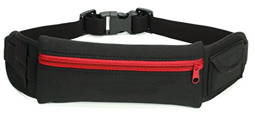 Running Belt By RUNPO(TM),With Bonus Free E-Book, Waist pack, Fanny Pouch, Sports Belt-Lightweight, Water Resistant Waist Bag For Runners, Cyclists, Hikers and Exercise