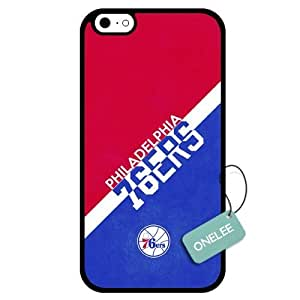 (TCustomized NBA Philadelphia 76ers Team Logo Design PC Case For HTC One M7 Cover Case CovBlack 01