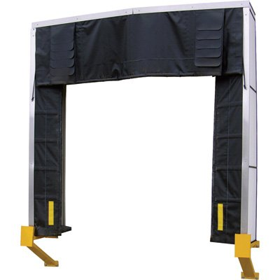 "Vestil D-750-30 Dock Shelter, 132"" Width, 126"" Height, 30"" Projection"