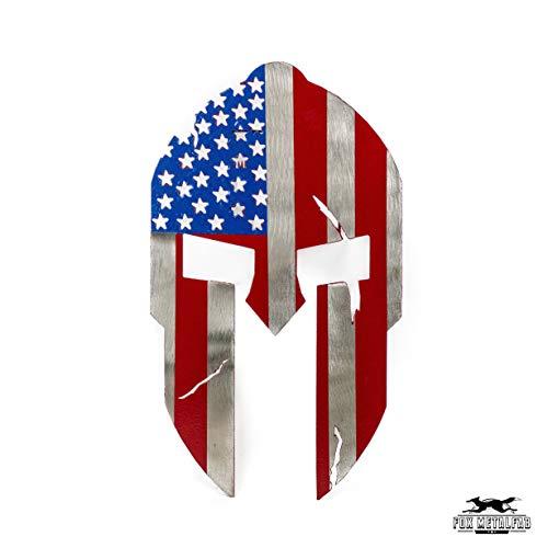 Fox MetalFab Powder Coated Steel Spartan Trailer Hitch Cover/Insert (American Flag)