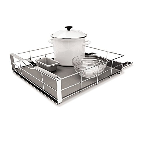 simplehuman Stainless steel Grey Pull-Out Cabinet Organizer, 19.8 x 20 x 6